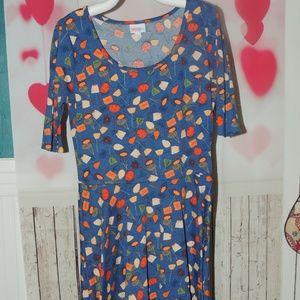 Lularoe casual fall dress sz large great condition